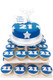 Birthday Blue Numbers Cake Tower