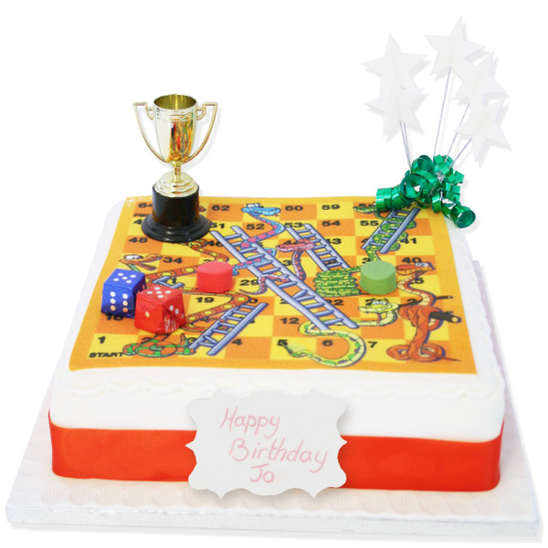 Stupendous Snakes Ladders Birthday Cake Toddler Birthday Cakes The Personalised Birthday Cards Veneteletsinfo