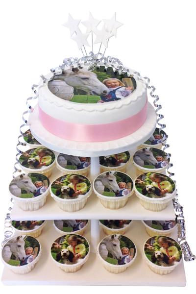 Photo Cupcake Tower