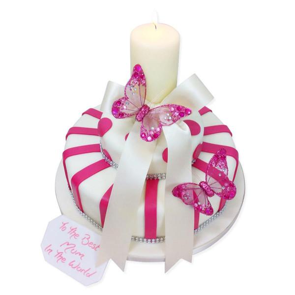 Stripes And Sparkles Cake