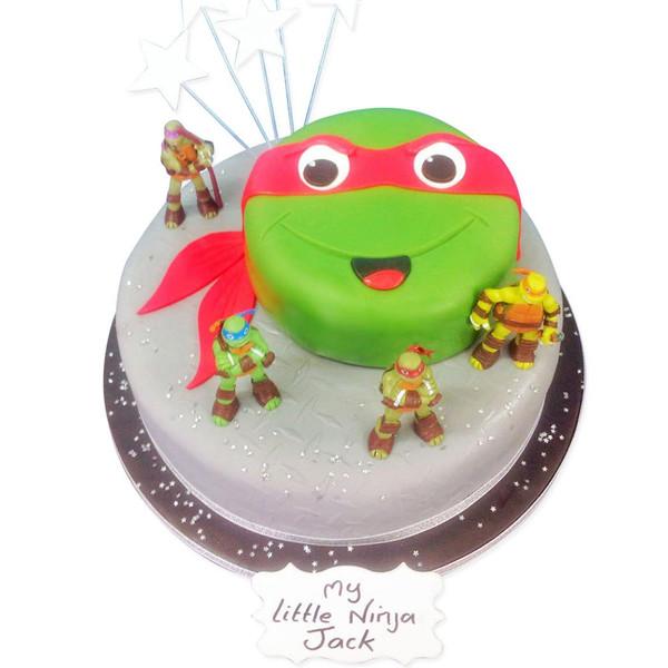 Outstanding Ninja Turtle Cake Luxury Cakes The Brilliant Bakers Funny Birthday Cards Online Alyptdamsfinfo