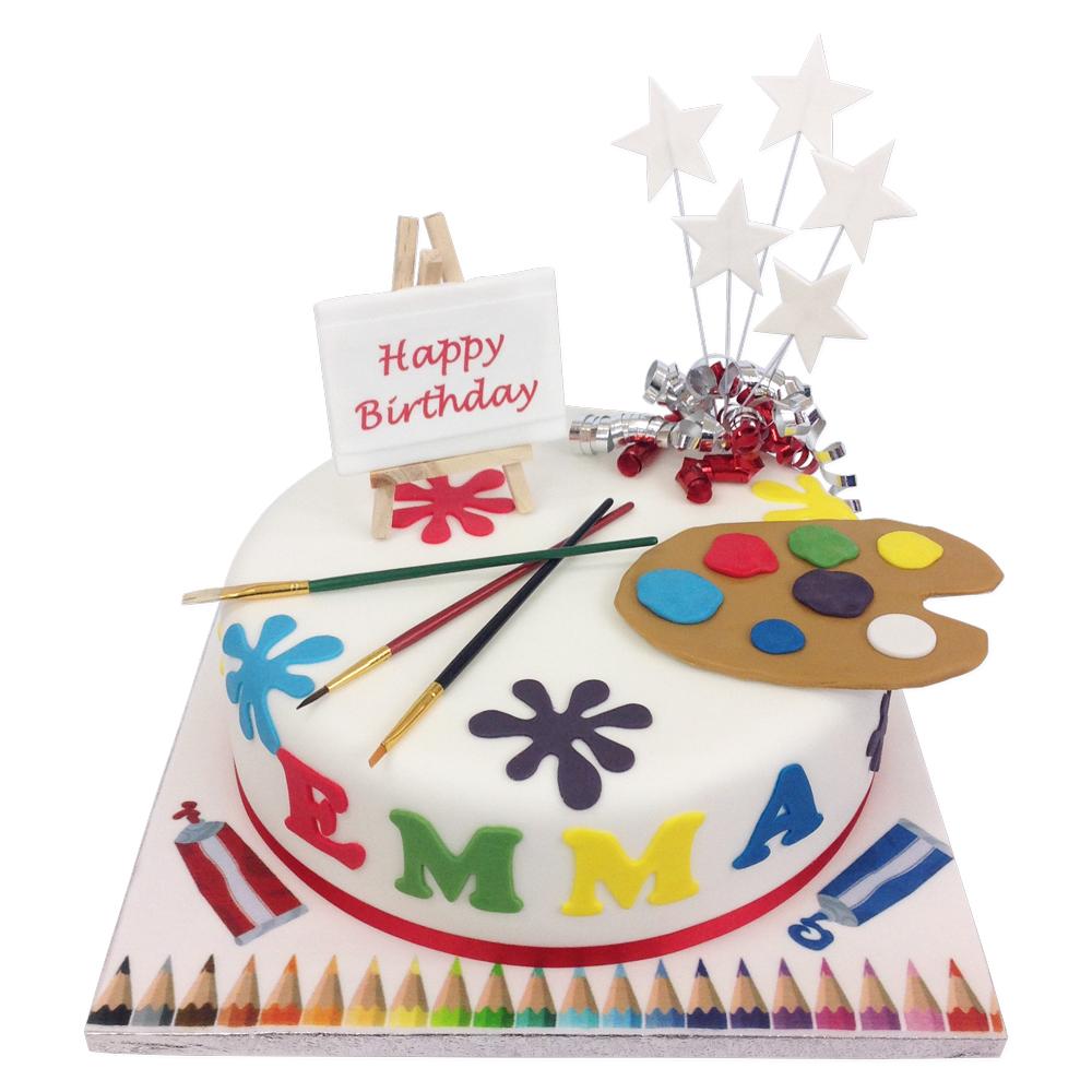 Artist Palette Cake | Birthday Cakes | The Brilliant Bakers