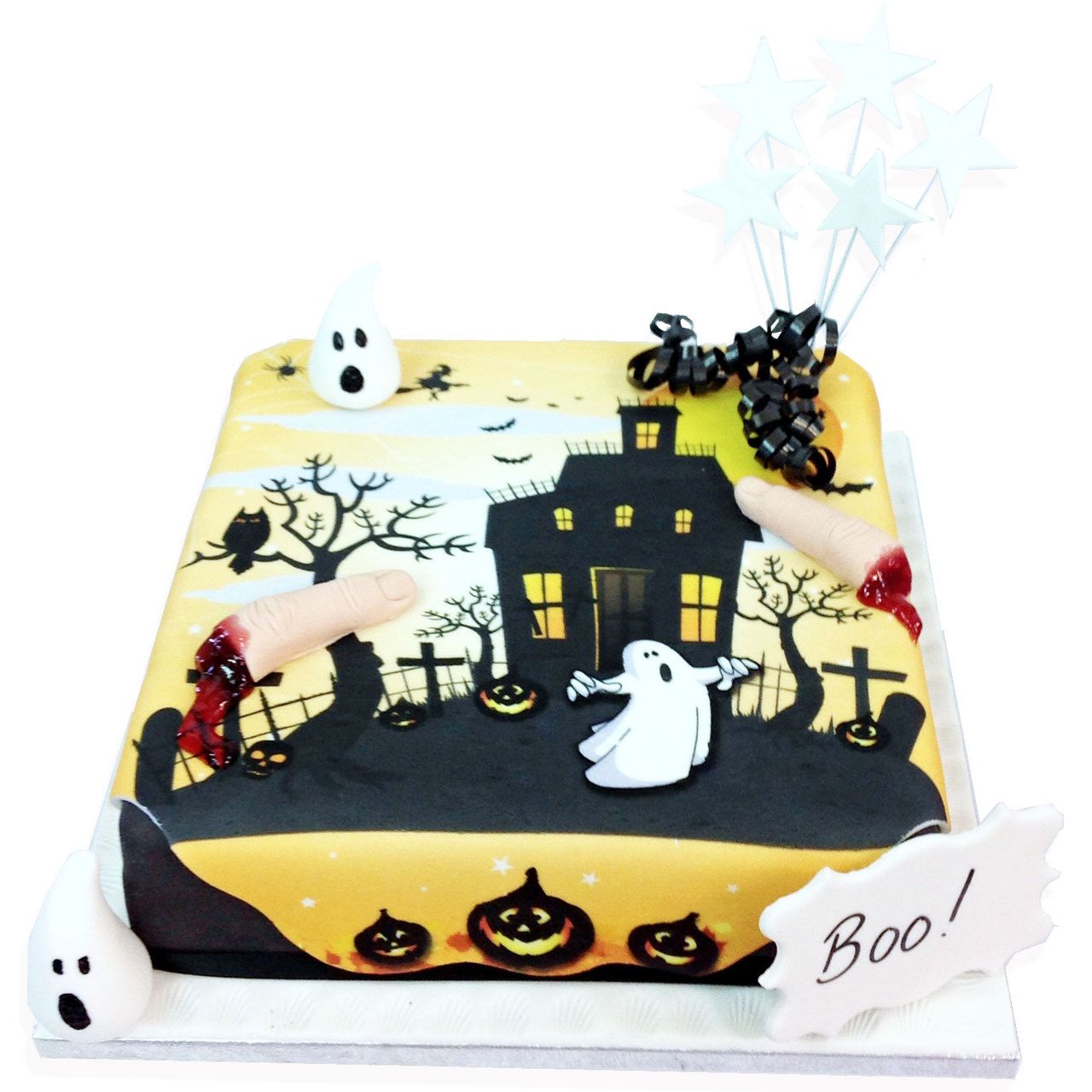 Incredible Haunted House Cake Halloween Cakes The Brilliant Bakers Personalised Birthday Cards Epsylily Jamesorg