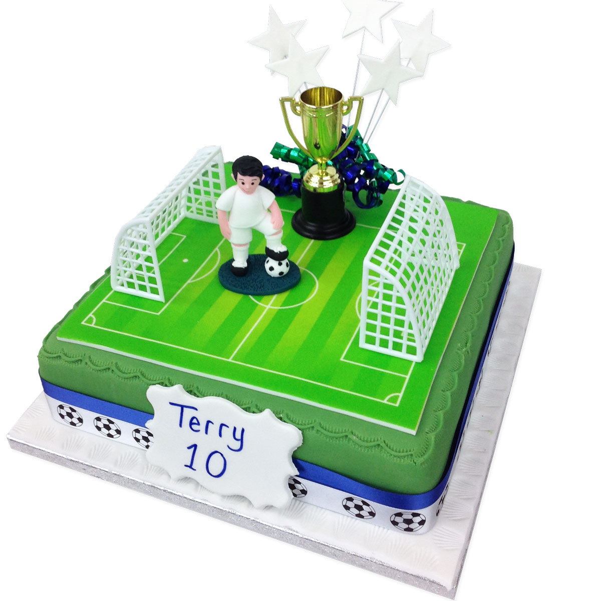 Awesome Football Birthday Cake Boys Birthday Cakes The Brilliant Bakers Personalised Birthday Cards Paralily Jamesorg