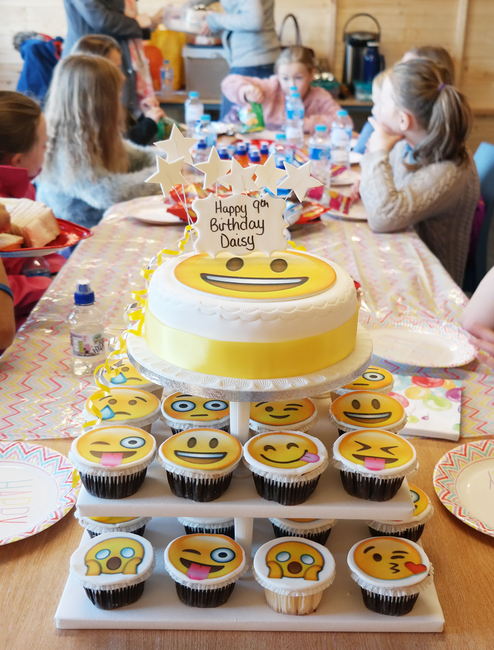 Emoji Cupcake Tower