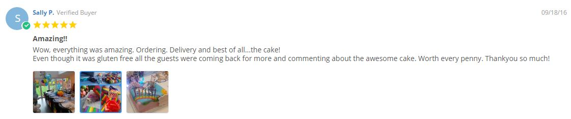 Gluten free birthday cake reviews