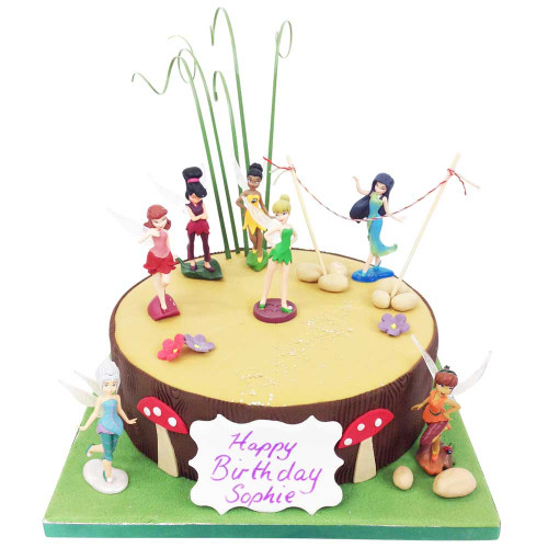 Magnificent Tinkerbell Fairies Cake Luxury Cakes The Brilliant Bakers Funny Birthday Cards Online Elaedamsfinfo