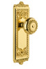 Grandeur Windsor Plate Double Dummy with Parthenon knob in Lifetime Brass (GD-800961)