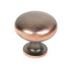 ZIinc Die Cast Knob, 1 3/16 DIA Antique Bronze, Lisbon (CENT20304-AZC)