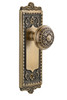Grandeur Windsor Plate Dummy with Windsor knob in Vintage Brass (GD-822105)