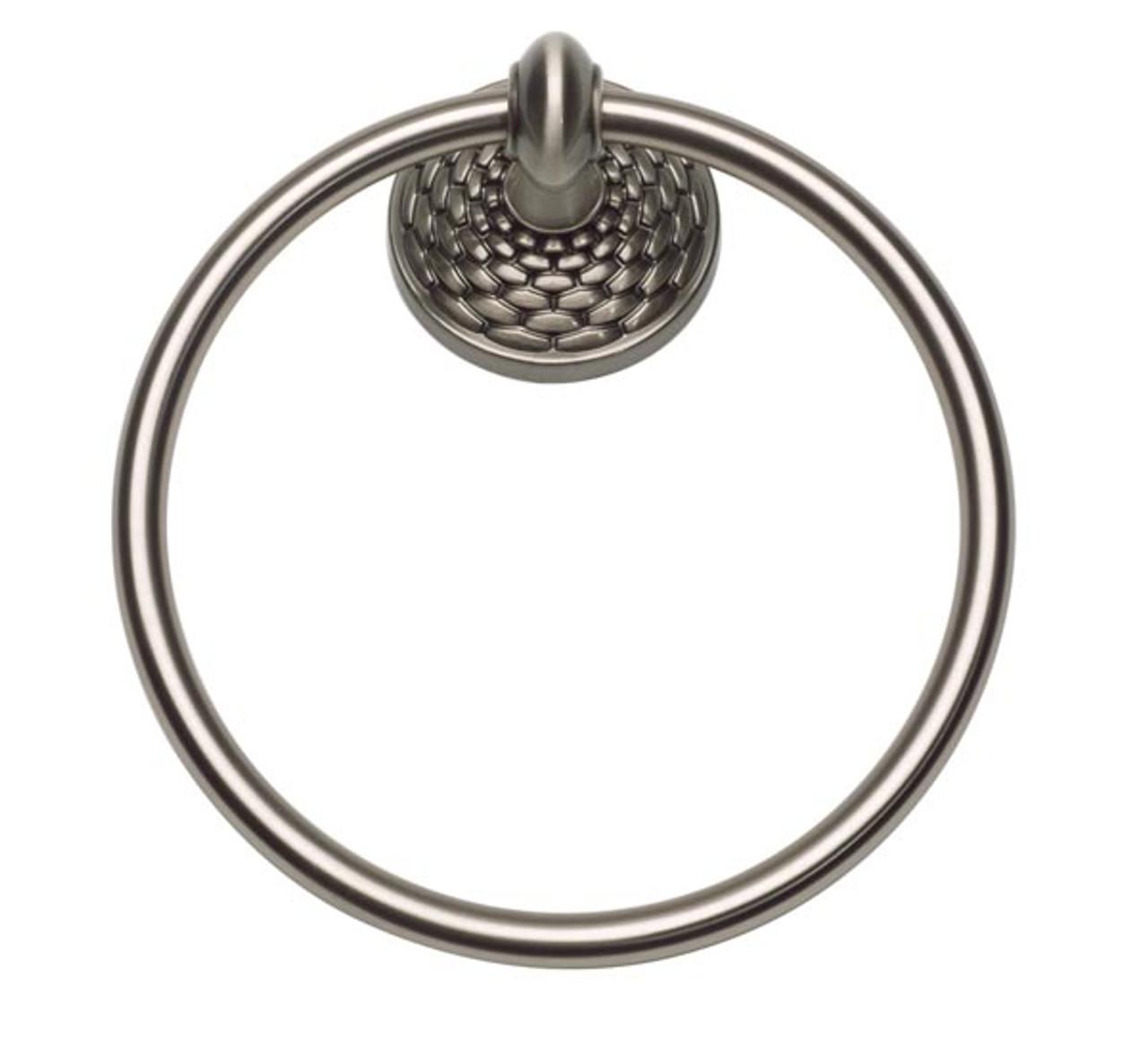 Mandalay Brushed Nickel 6.75 In Towel Ring
