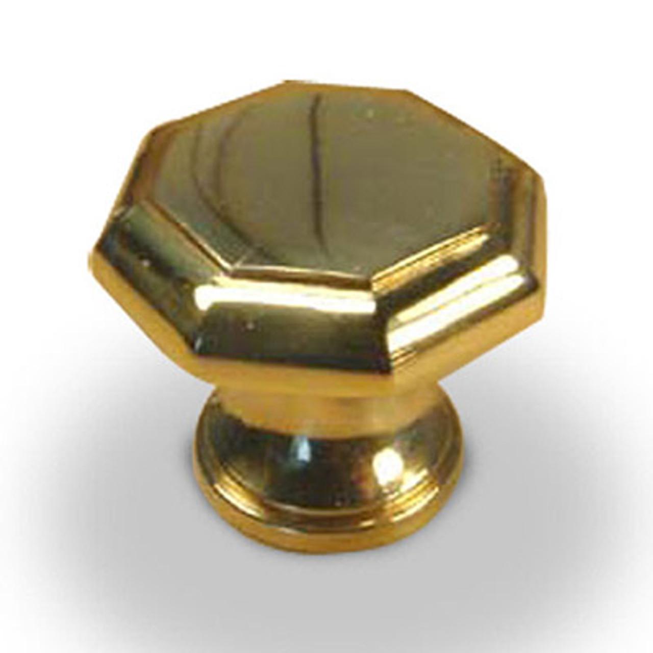 "Classique - Premium Solid Brass, Knob, 1-1/4"" dia. Polished Brass (CENT10205-3)"