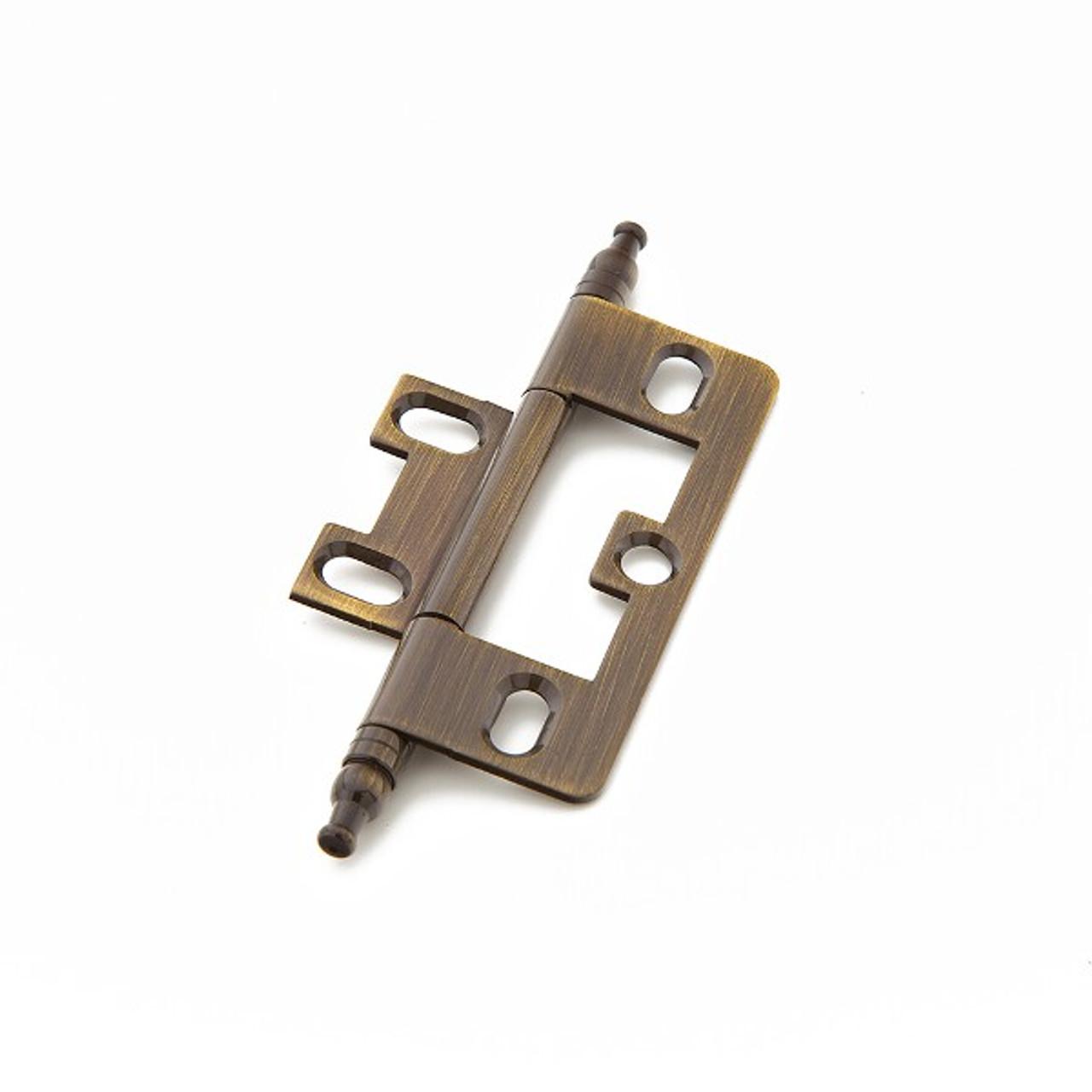Hinge, Minaret Tip Non-Mortise, Antique Brass (SCH-1100M-AB)