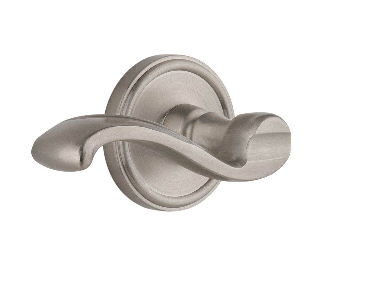 Grandeur Georgetown Plate Dummy with Portofino Lever in Satin Nickel (GD-822146)