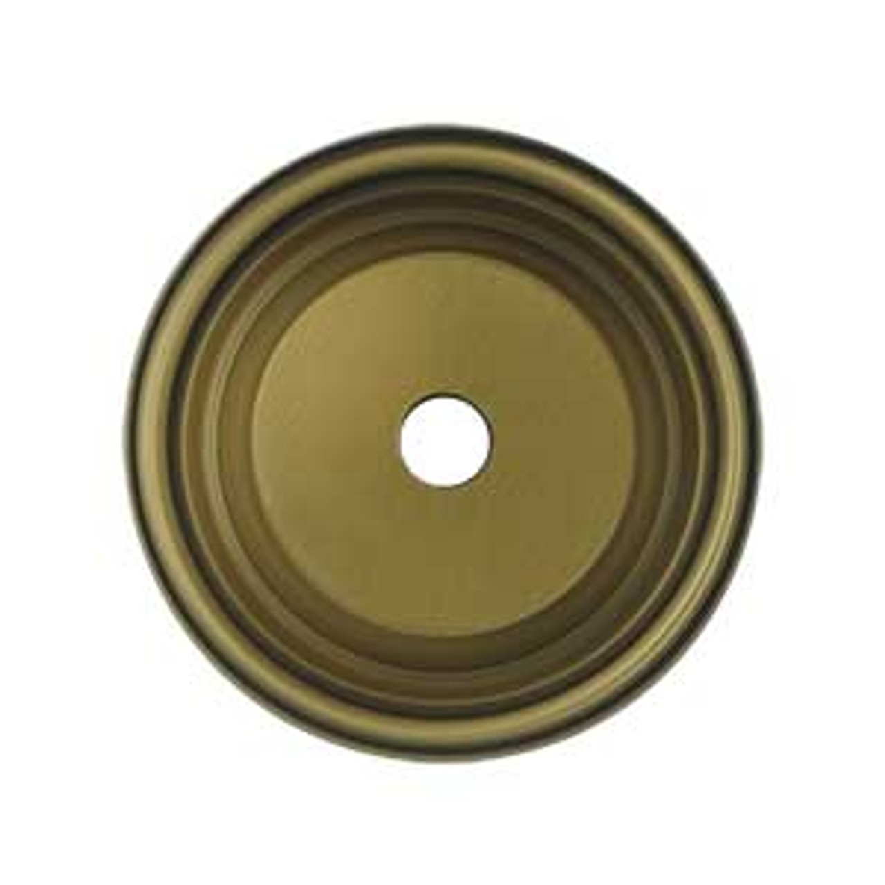 "1-1/2"" Dia. Round Knob Backplate - Antique Brass (DELH-BPRC150U5)"