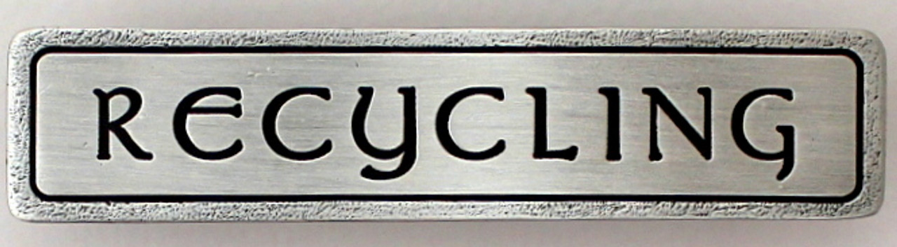 """""""RECYCLING"""" Pull Antique Pewter (Horizontal) (NHP-312-AP)"""