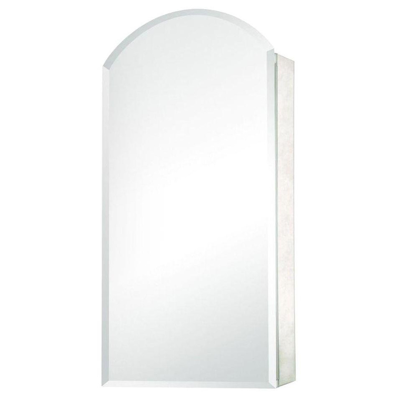 15 in. x 30 in. Recessed or Surface Mount Mirrored Medicine Cabinet with Frameless Mirror in Silver (PE-511274)