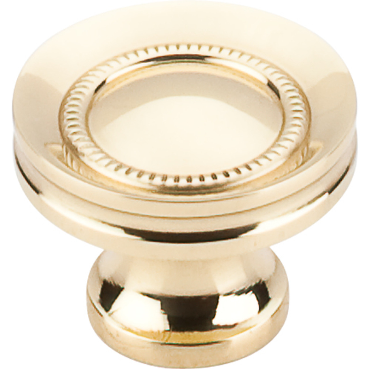 Top Knobs - Button Faced Knob  - Polished Brass (TKM290)