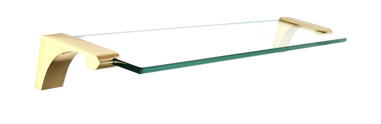 """18"""" Glass Shelf With Brackets (ALNA6850-18-PB)"""