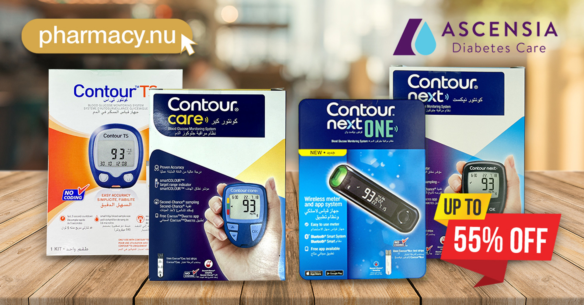 Ascensia Contour Blood Glucose Monitors are upto 55% Off