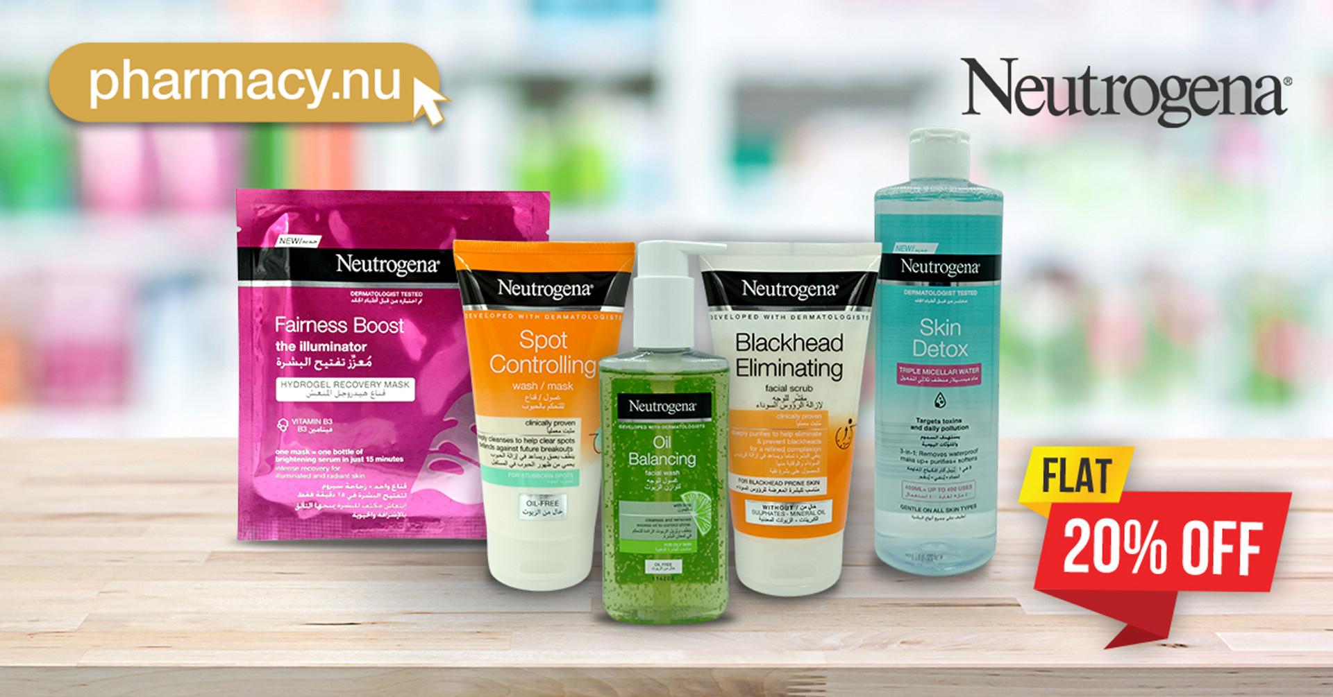 Neutrogena Skin Care is Flat 20% Off
