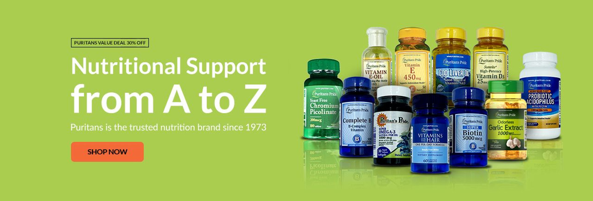 Puritans Pride Vitamins Offers Nutritional Support from A to Z