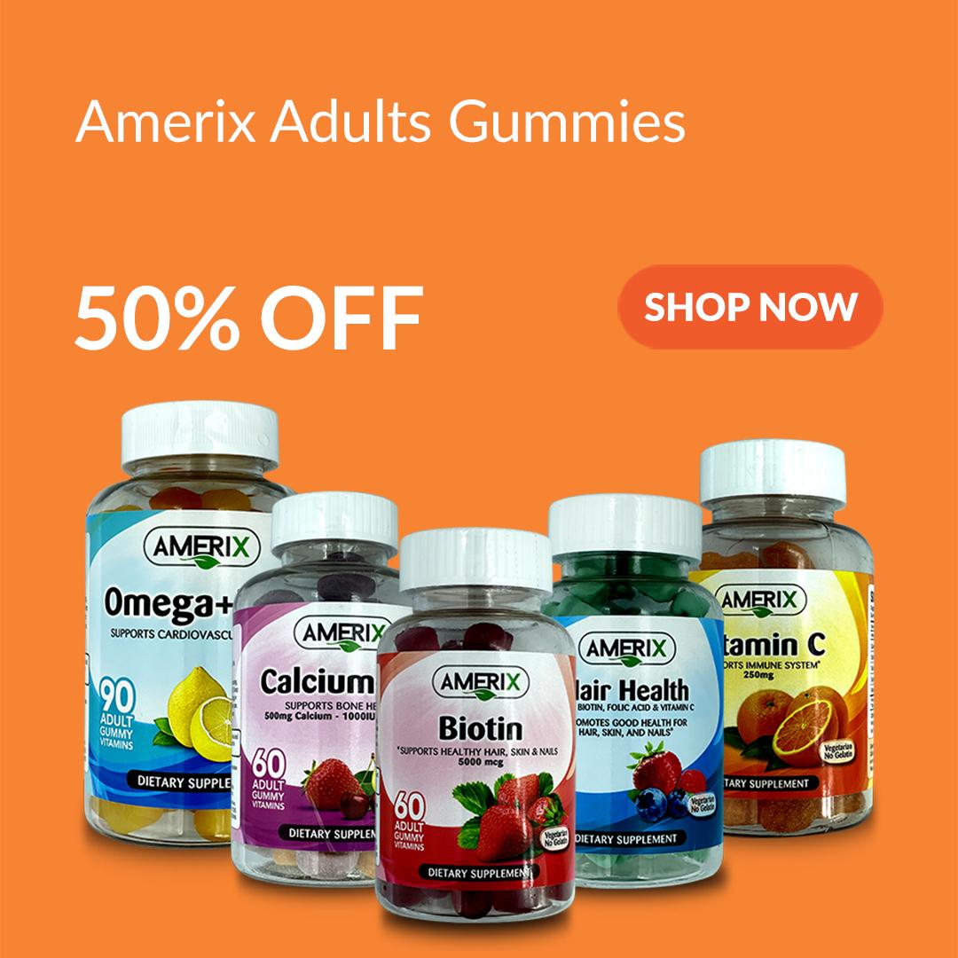 Amerix Adult Gummies at 50% Off