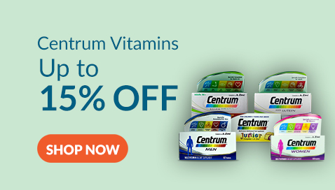 Centrum Multivitamins for Adults and Children are at 15% Discount