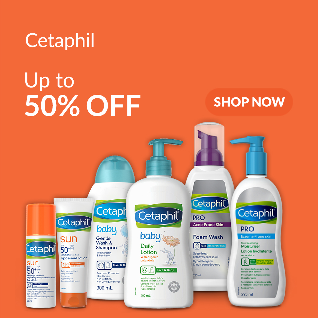 Cetaphil Skin Care Upto 50% Discount