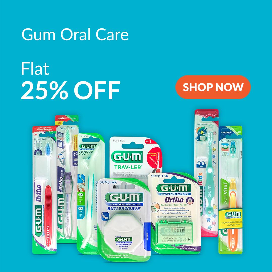 Gum Oral Care is 25% Off