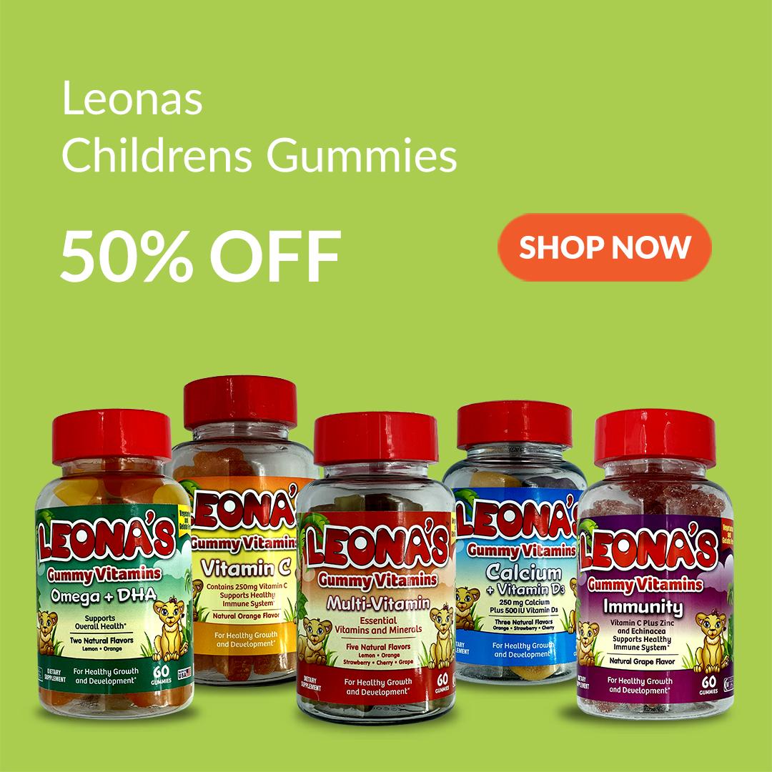 Leonas Childrens Gummies are 50% Off