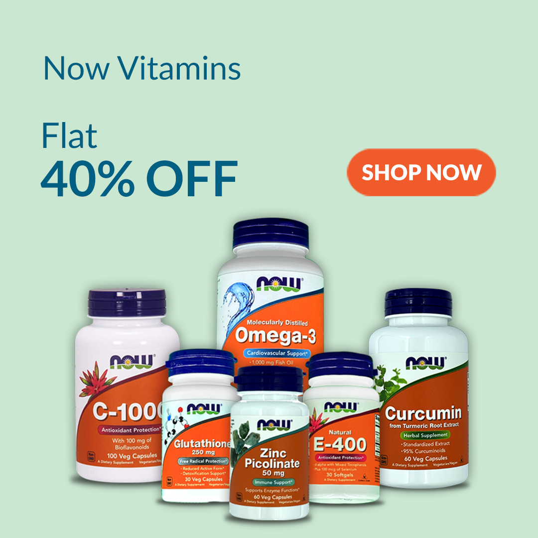 Now Food Supplements are 40% Off