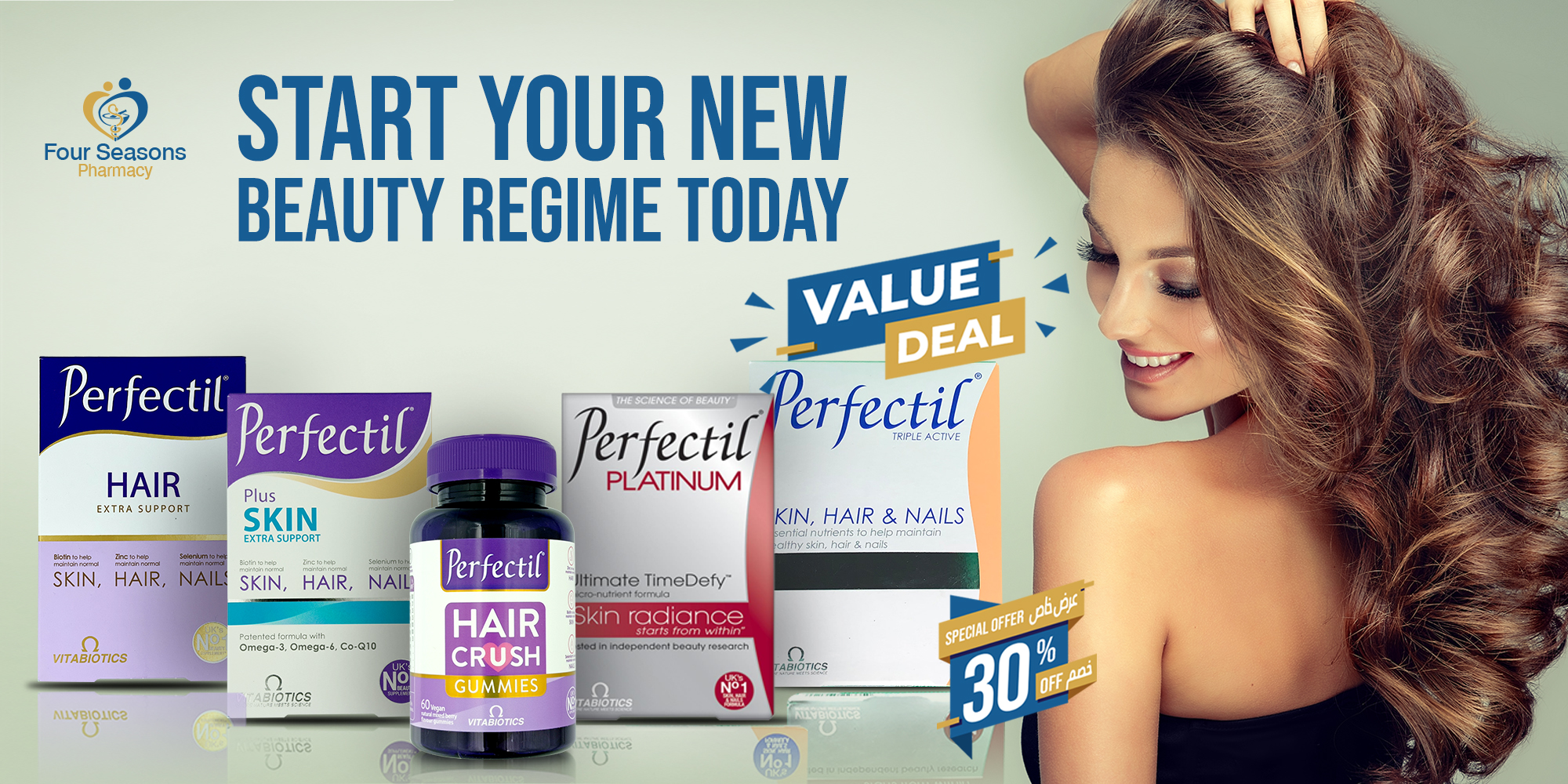 Start your new beauty regime today with Perfectil for Skin Hair and Nails