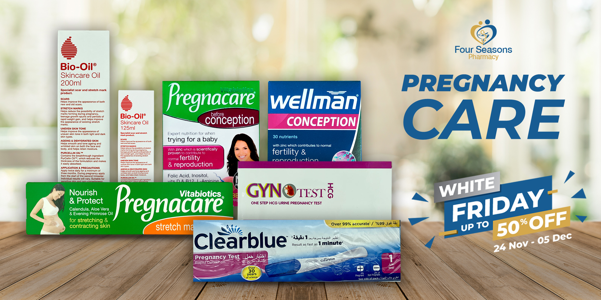 Everything you need to support your special months before, during and after pregnancy.