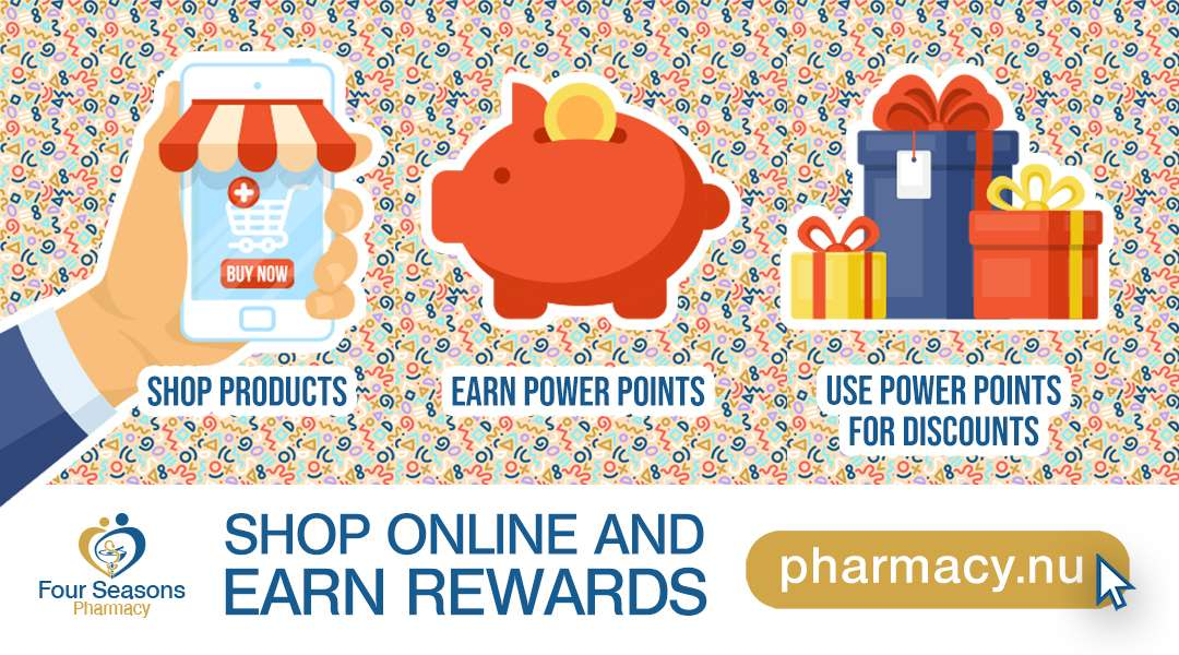 Shop Online and Earn Power Points! Redeem across the store and save more with Pharmacy.nu