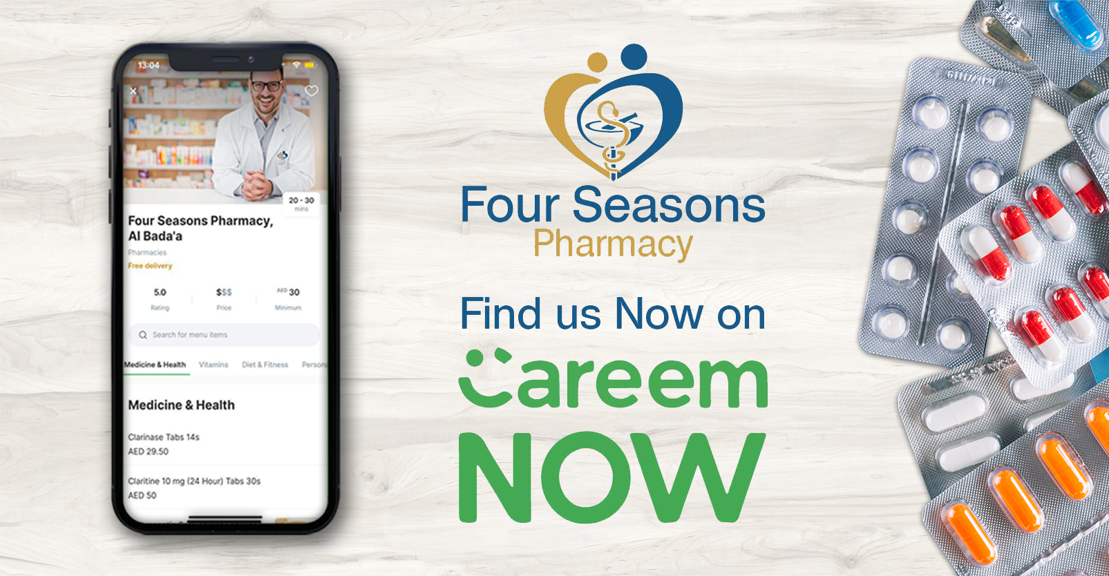 Get prompt delivery in under 60 minutes with CareemNOW.