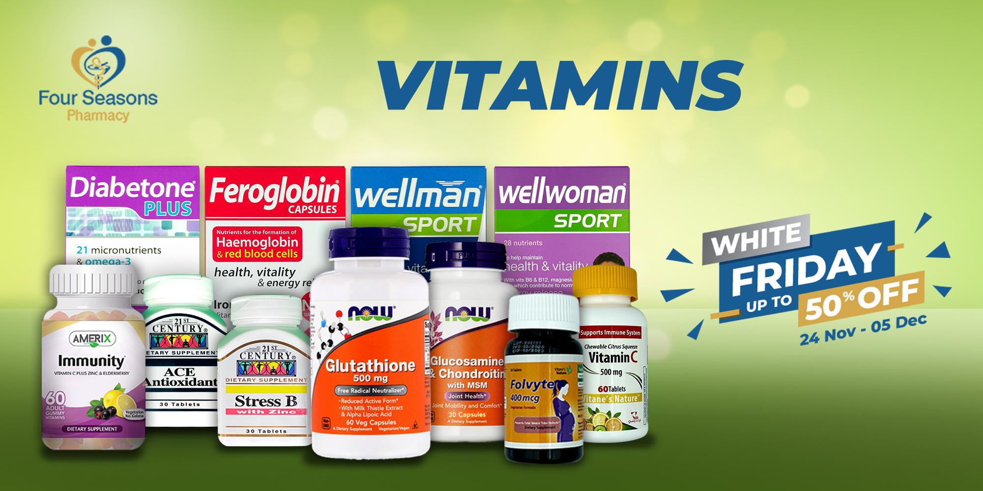 Vitamins - Upto 50% Off