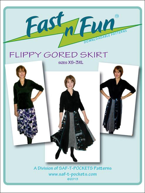 FLIPPY GORED SKIRT - 3003 - Download