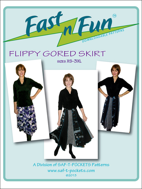 FLIPPY GORED SKIRT - 3003 - Download