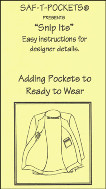 SNIP ITS BROCHURE: ADDING POCKETS TO READY-TO-WEAR