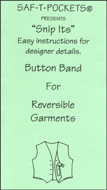 SNIP ITS BROCHURE: BUTTON BAND FOR REVERSIBLE GARMENTS