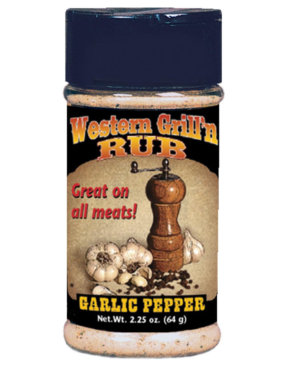 Western Grill'n Rub-Garlic Pepper Seasoning