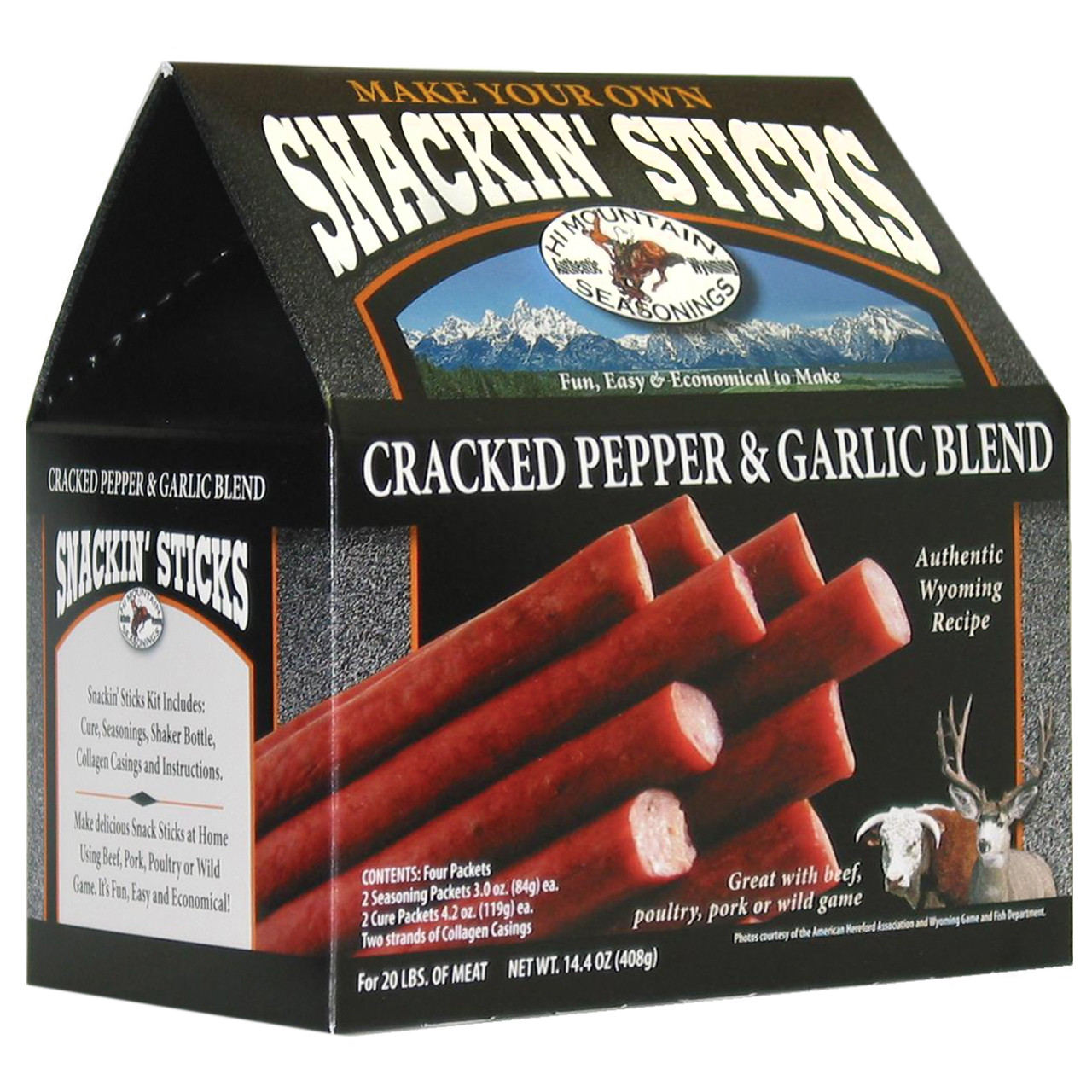 Cracked Pepper & Garlic Snackin' Stick Kit