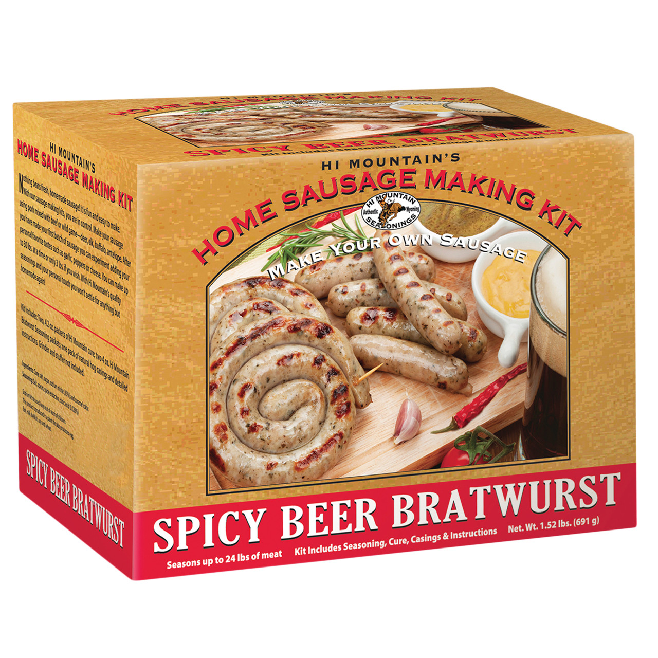 Spicy Beer Bratwurst Kit