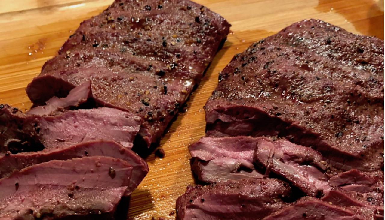Grilled Venison Heart Steaks