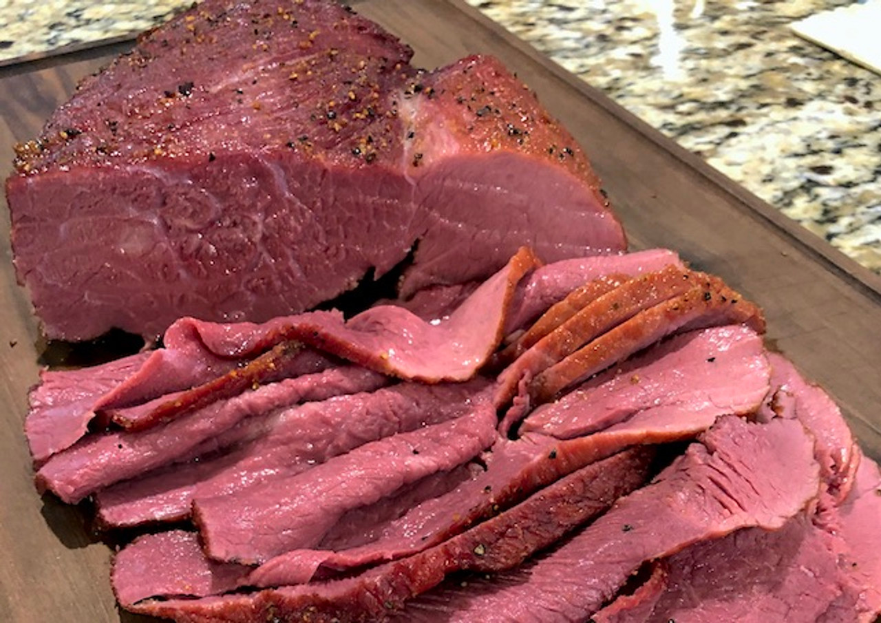 Smoked Venison Hindquarter Roast with Dip