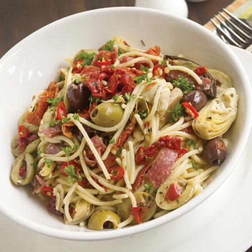 Mediterranean Pasta with Salami