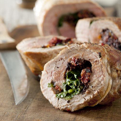 Stuffed Pork Tenderloin Stuffed with Spinach & Sun Dried Tomatoes