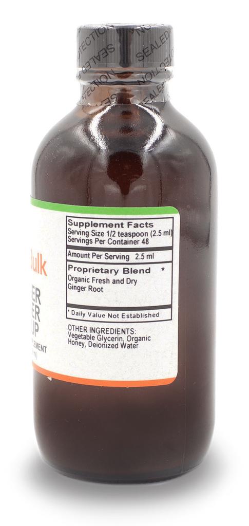 Ginger Zinger Syrup - 4 Oz. Bottle