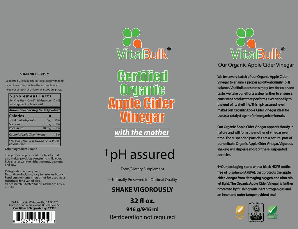 VitalBulk Organic Apple Cider Vinegar